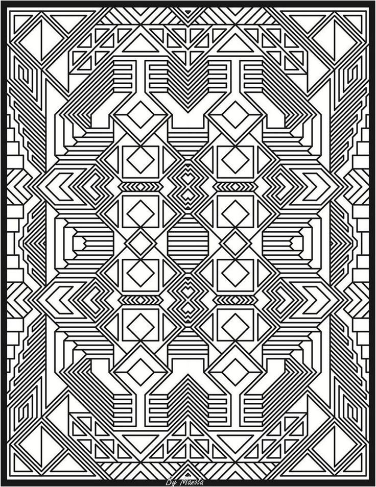 Adult Colouring Pages Geometric Coloring Apps Patterns Art Tutorials Laser Cutting Creative Ideas Zentangle