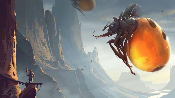 Fantasy Art: Buggle Landing - 2D Digital, FantasyCoolvibe – Digital Art