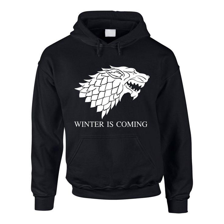 Hoodie Game of Thrones Winter is coming Kapuzenpullover Schattenwolf:  Amazon.de: Bekleidung