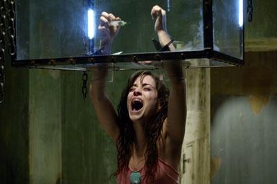 The hand trap in Saw II / horror scary movie film suspense thriller shocking terror