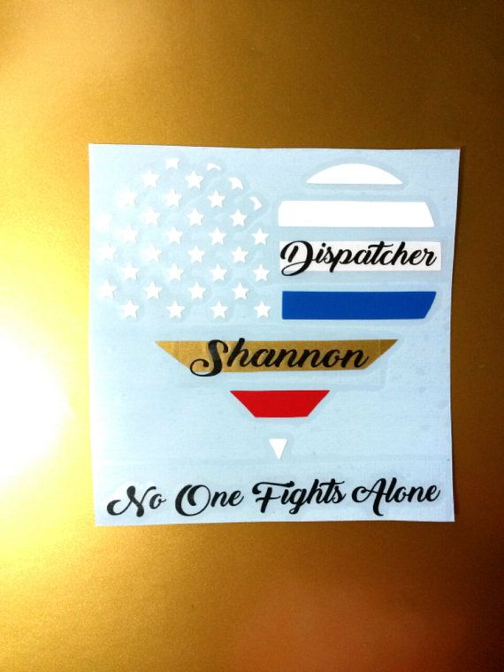 Personalized Dispatcher Thin Gold Line Decal by TsVinylDesignz