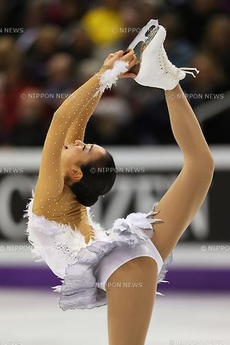Mao Asada (JPN), .March 16, 2013 - Figure Skating : .ISU World Figure Skating Championships 2013, Women's Free Skating .at Budweiser Gardens, London, Canada. .(Photo by Daiju Kitamura/AFLO SPORT) [1045]