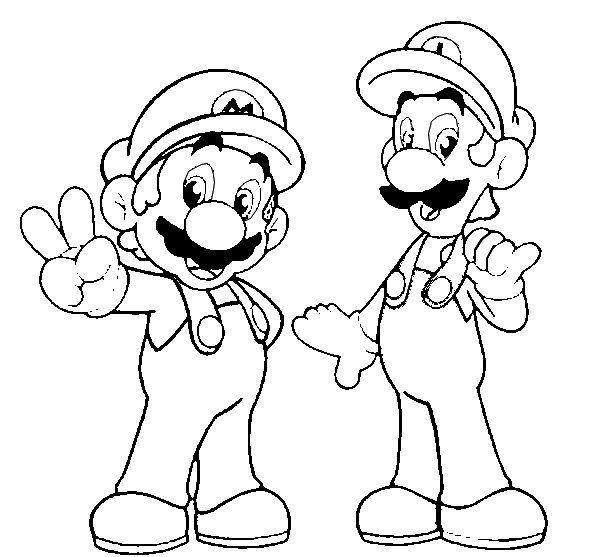 Party Idea Mario Coloring Pages Super Mario Coloring Pages Super Mario And Luigi
