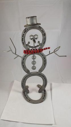 Metal Art Snowman