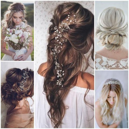 <p>Zijn bloemen net iets te zweverig of romantisch voor jou? Ga dan voor een stijlvolle haarspeld of een ander haarjuweel. Oorspronkelijk dienden ze om je sluier tegen te houden, maar ze zien er ook zonder sluier bijzonder elegant uit.</p><p><span class='st'>© Pinterest</span></p>