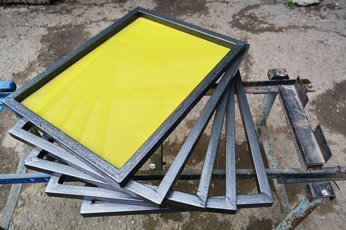 Изготовление рамочек для шелкографии из металла.