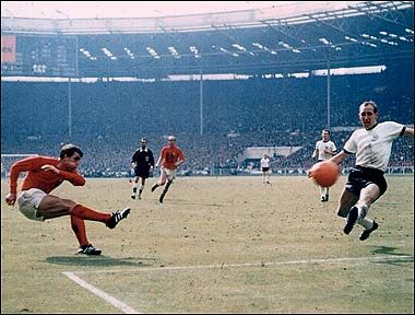 Winner ... Geoff Hurst in World Cup 1966