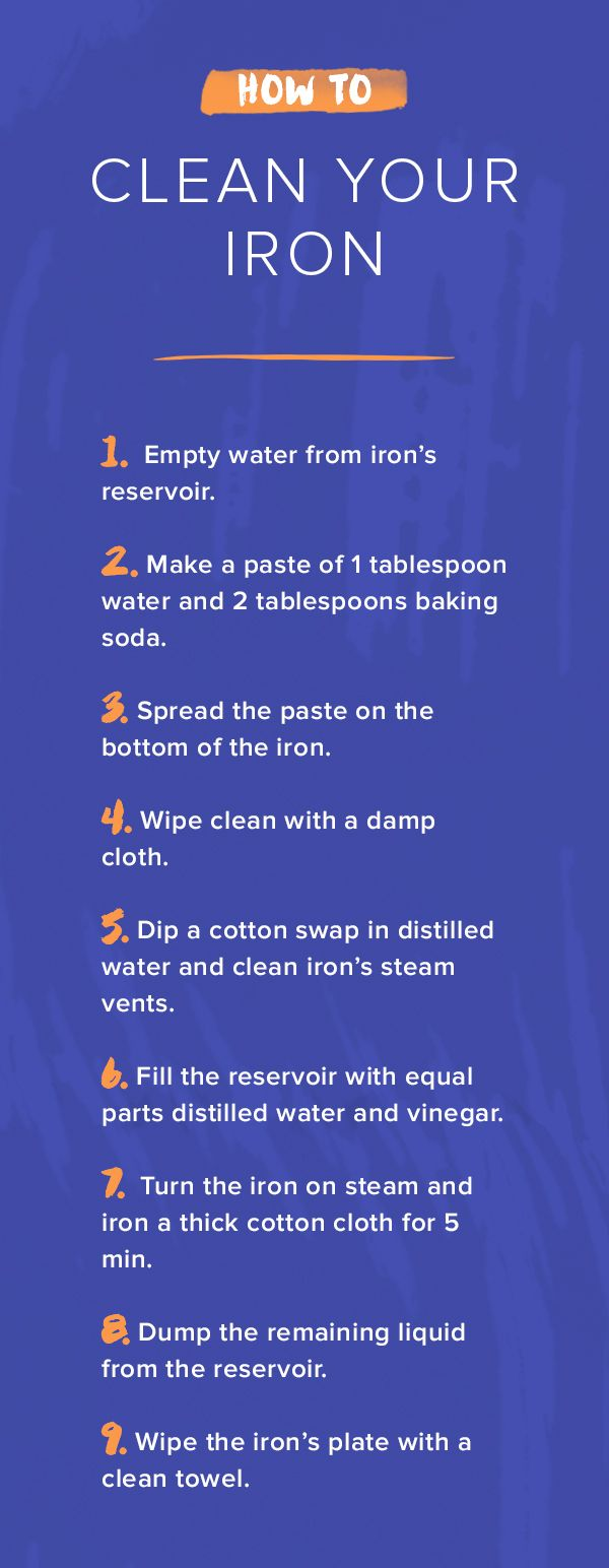 It's important to clean your iron if you notice the bottom plate starts wearing or staining. Try following this quick and simple guide for cleaning it.