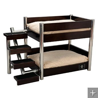 Espresso Metropolitan Double Pet Bed    bunk beds for dogs... how adorbs!