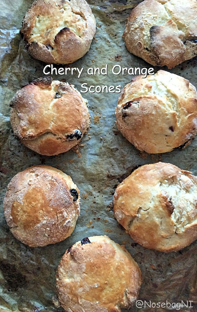 Cherry and Orange Scones. Scones straight from the oven are simple unbeatable in taste and enjoyment. A lovely afternoon treat.