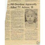 Anissa Jones Dead   eBay Image 1 ANISSA JONES BUFFY FAMILY AFFAIR DEATH NEWSPAPER STORY