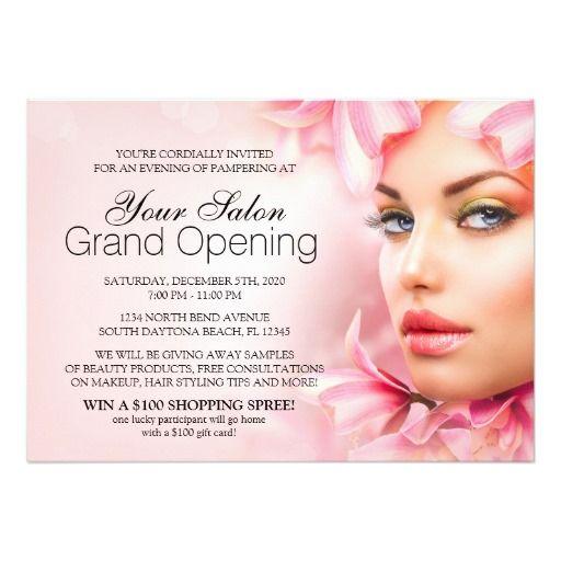Salon And Spa Grand Opening Invitation | Spa And Salon ...