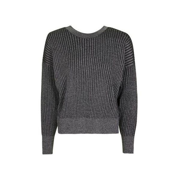 TopShop Petite Metallic v-Neck Batwing Jumper (255 EGP) ❤ liked on Polyvore featuring tops, sweaters, silver, batwing sweater, v-neck tops, batwing tops, v-neck sweater and v-neck jumper