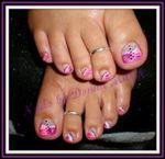Pink and Purple Toes - Nails Art photos, nail art design. List 2016 Pink and Purple Toes stylist photos