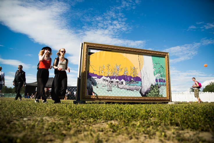 Kuvataiteilija Johanna Sinkkosen Ruisrockille toteuttamaa taidetta voi ihailla Ruissalossa nyt ympäri vuoden.