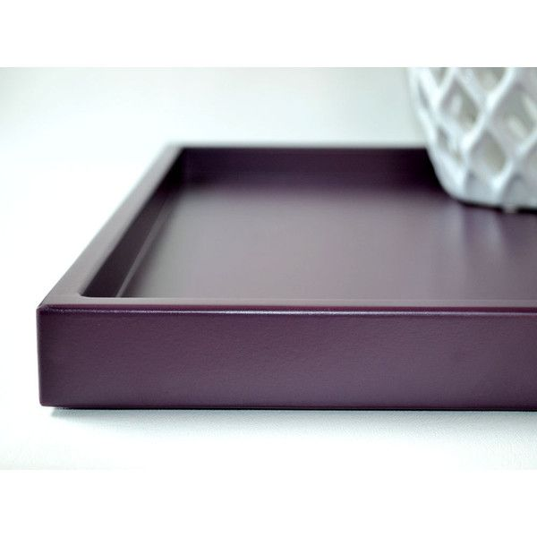 Black Decorative Tray Impressive Plum Shallow Decorative Tray 14 X 18 Lacquered Wood Serving Tray Design Inspiration