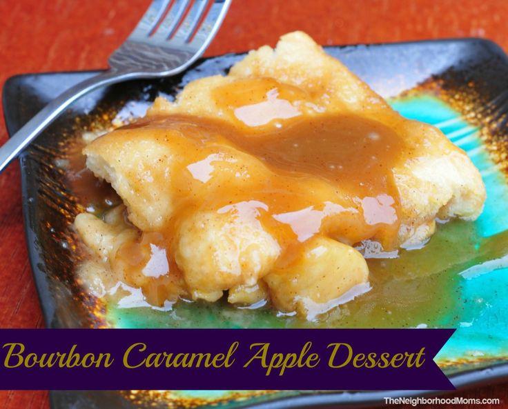 Bourbon Caramel Apple Dessert - The Neighborhood Moms