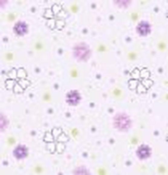 Nursery fabric 3d purple flower ditzy flannel d for Purple nursery fabric
