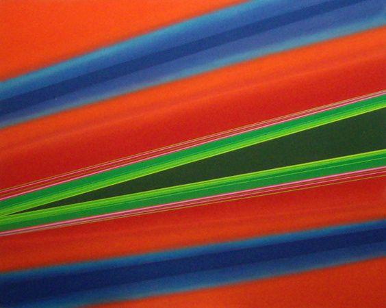 "Rita Letendre - Malapèque, 1973 - acrylic on canvas, 48"" × 60"""