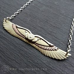 Small Multi-Layered Winged Disk Pendant