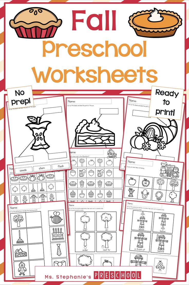 Fall Preschool Worksheets Fall Preschool Worksheets Preschool Worksheets Fall Preschool [ 1109 x 736 Pixel ]