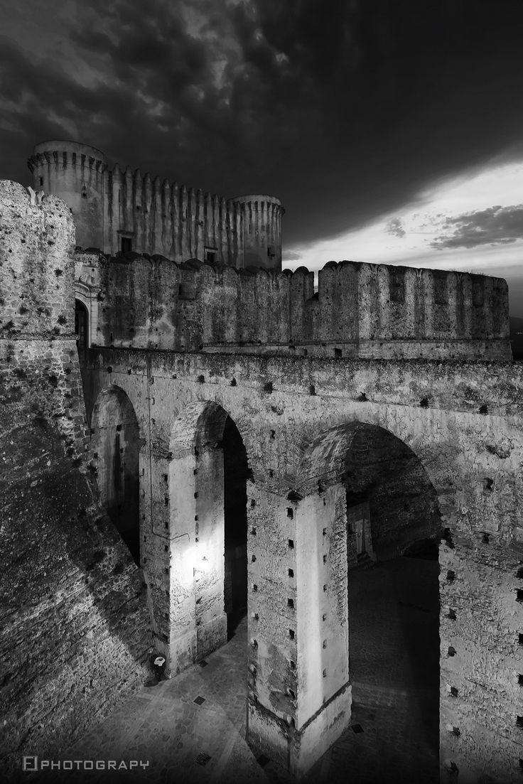 The Castle - Calabria by Fabio Lamanna on 500px  #black and white #bridge #calabria #castle #country #countryside #crotone #fabio #italy #lamanna #landscape #night photography #nikon #santa severina #sky