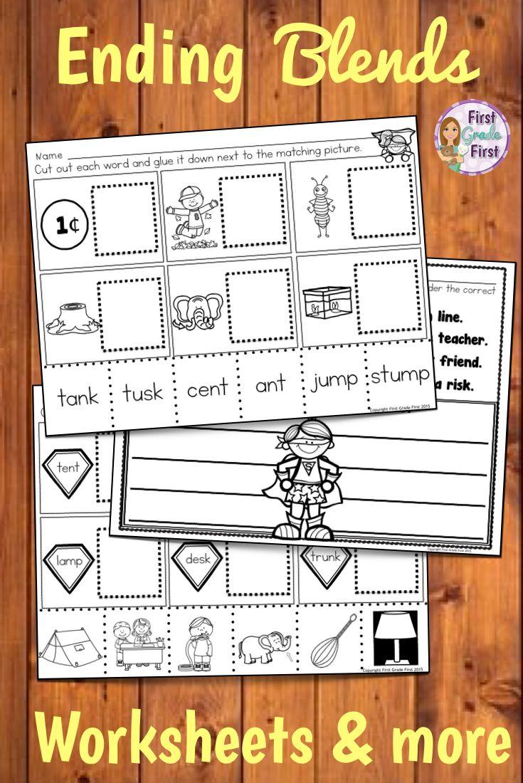 Ending Blends Activities | First Grade | Phonics activities, Phonics