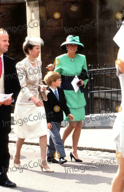 July 18, 1992:  Princess Diana with Prince William & Princess Anne attending the Lady Helen and Tim Taylor Wedding.  Photo by Dave Chancellor/alpha/Globe Photos,inc.