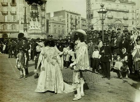YA LLEGA EL CARNAVAL, BARCELONA EL CARNAVAL DE HACE 100 AÑOS...23-02-2014...!!!
