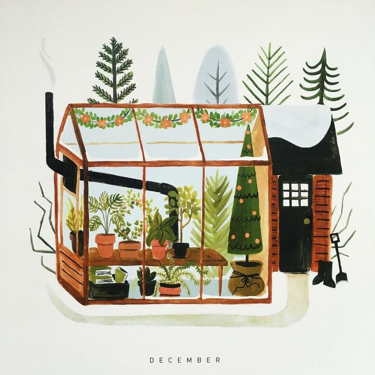 Calendar Greenhouses by Quillandfox