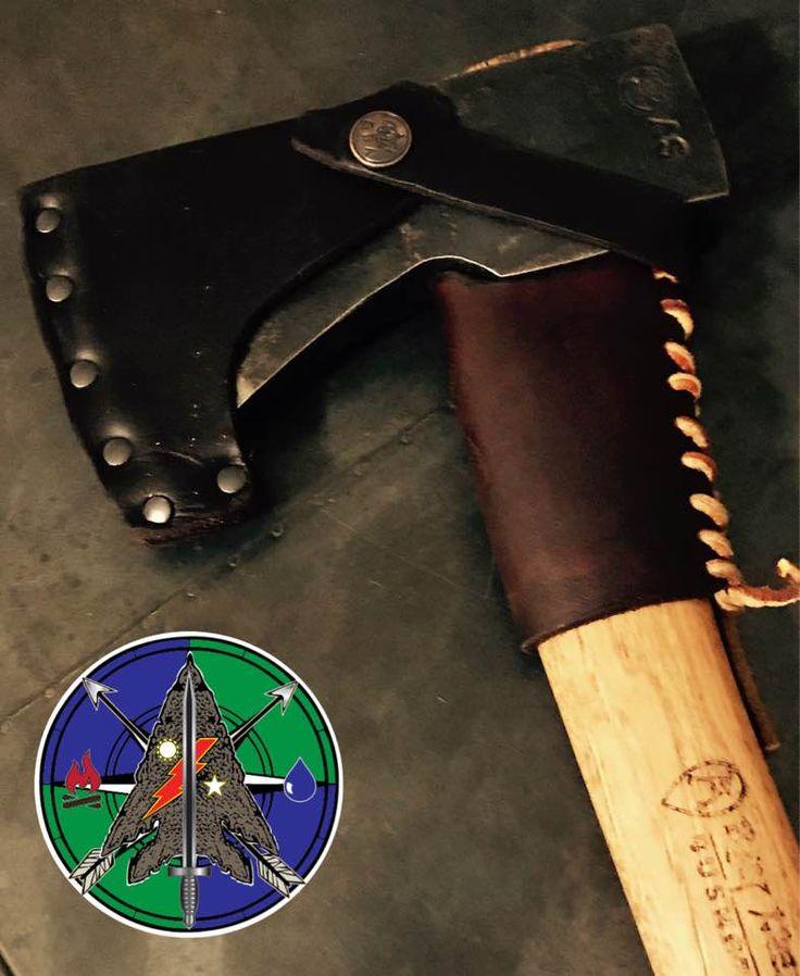 Collar Guard for Gransfors Bruks Ray Mears bushcraft axe. #CStoneSurvival #CrustyOldRanger #GransforsBruks #Bushcraft #RayMears #Survival
