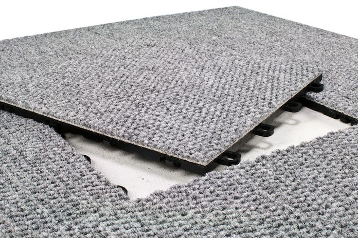 Temporary flooring solution?  ~VB Modutile interlocking basement floor tiles