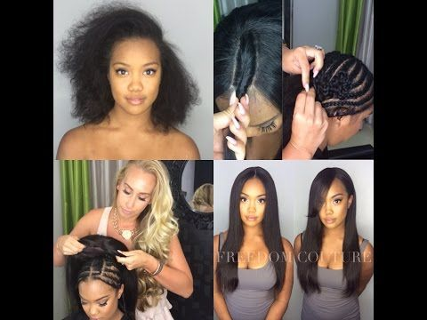 How to: 2 Part Lace wig Sew in with leave out & healthyBraid down - YouTube