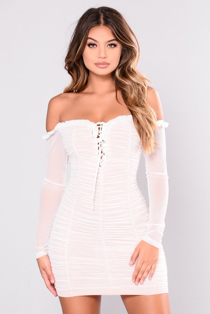 Maura Mesh Dress White Mesh dress, Dresses, Fashion