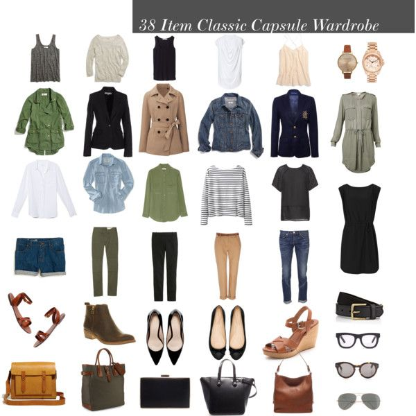 38 Item Classic Capsule Wardrobe by designismymuse on Polyvore #classic #fashion #capsule #wardrobe