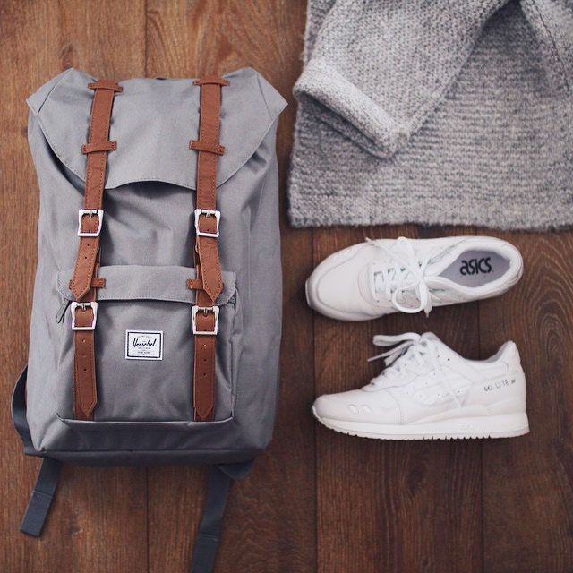 Well Packed with Aisics and Herschel Supply.