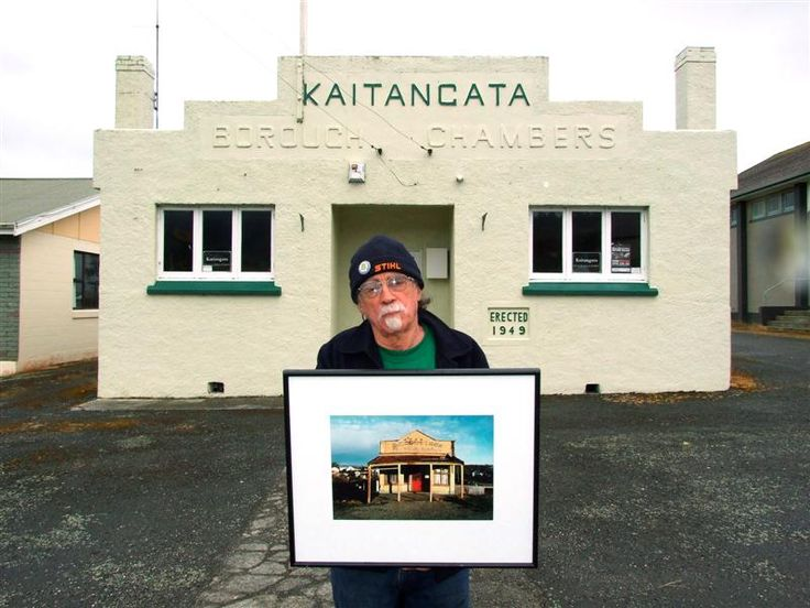 Robin Morrison: Helensville art historian and curator John Perry stands outside the old Kaitangata borough chambers, now used by Kaitangata and Districts Pr...