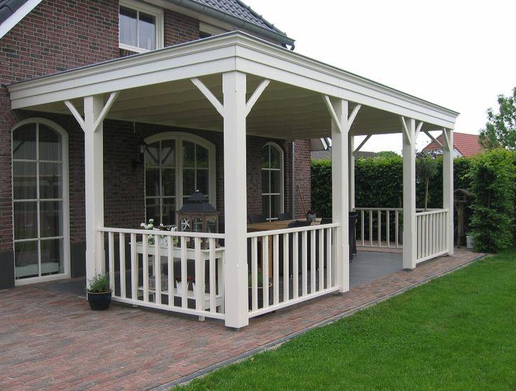 Overkapping terras terras overkapping hout veranda traditioneel tuinieren pinterest search - Terras hout ...