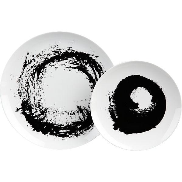 Time for new plates. sweep dinnerware in dinnerware  sc 1 st  Pinterest & 94 best Black and white dinnerware images on Pinterest   Dish sets ...