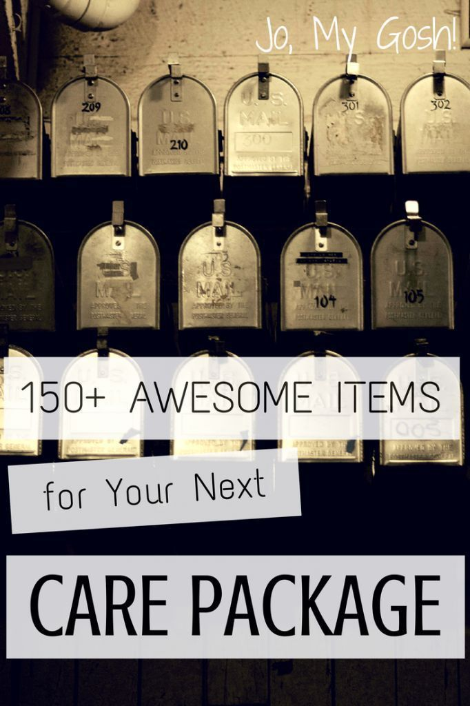 Printable list with over 150 items for care packages. Pin now, use later! #milso…