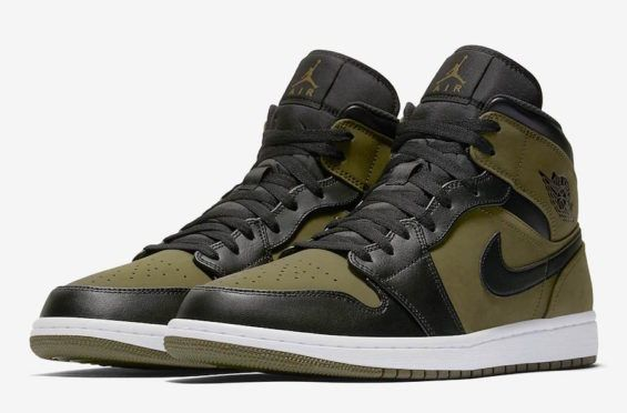 Coming Soon  Air Jordan 1 Mid Olive Canvas Above you will get an official  look 69a6988ce