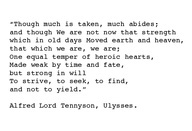 """Judi Dench quotes Tennyson's poem Ulysses in the latest James Bond movie, """"Skyfall.""""  A beautiful ode to aging with dignity and resilience."""
