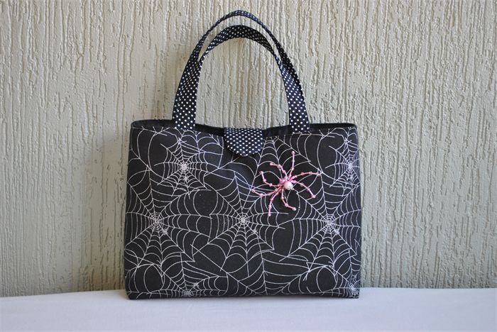 Cleo - ladies bag with beaded spider | Witching Hour | madeit.com.au