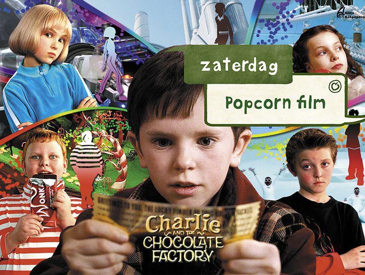 #Charlie and the #Chocolate #Factory (#Sjakie en de #Chocoladefabriek). Alleen al van de hoeveelheid #chocolade in de film worden wij blij. Charlie beleeft n avontuur zo groot/zoet als de reep van de lekkerste chocolade in de fabriek van #Willy #Wonka, een chocoladerivier en toverballen overal. Een avontuur zo groot en zoet als de reep van Wonka's allerlekkerste chocolade. Je wilt en zal oneindig smullen bij het kijken van deze film! #laplace #popcorn #film #movie #popcornfilm #zaterdag #tip