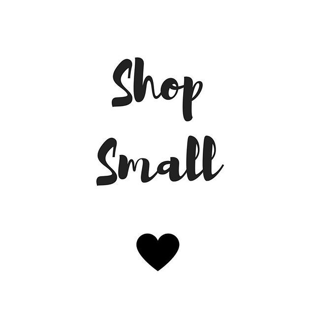 It's small business Saturday today! I'm starting out as a small business and all the support I've had so far has been invaluable to my journey and helps me get going each day! I know I still have so much more to learn and do, the plans are big and the pas