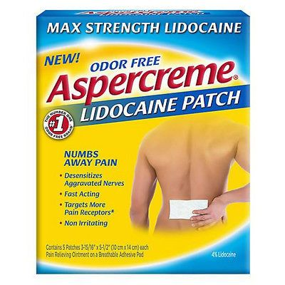 Cold and Hot Packs and Wraps: Aspercreme Lidocaine Patches 5 Ea (Pack Of 9) BUY IT NOW ONLY: $70.76