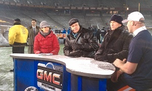 #Bears Brian Urlacher on the set of #MNF post-game