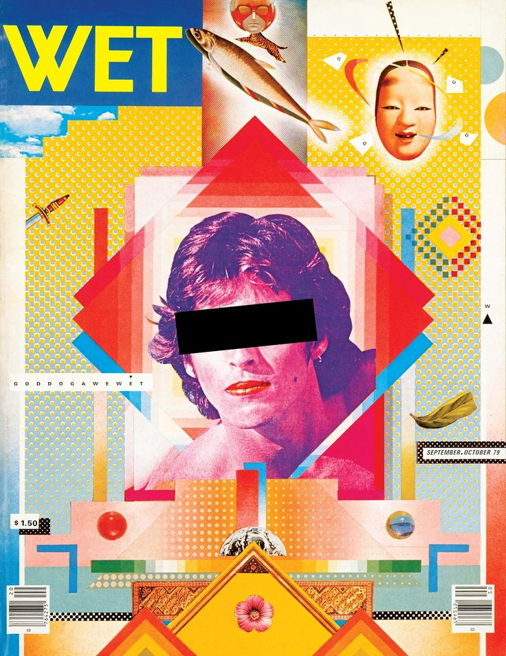 Wet-magazine-©-April-Greiman-and-Jayme-Odgers. G4. Considered incorrect/controversial in it's time. Transitional moment in Graphic Design History (breaking design standards)