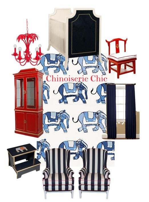 Chinoiserie Chic: Navy Nursery Inspiration Boards