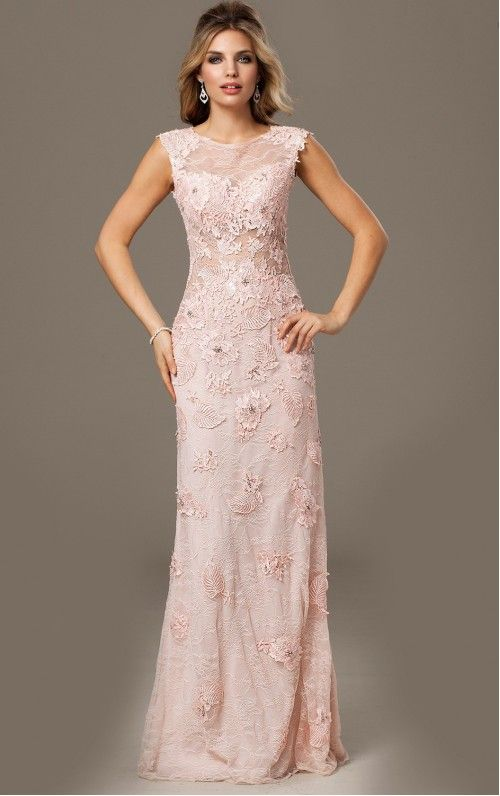 Radiant Cap Sleeves Lace Floor-length Empire Sheath Evening Dresses